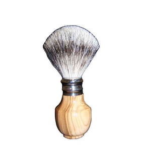 Pure Silver Tip Badger Shaving Brush Olive Wood - Zouf.biz