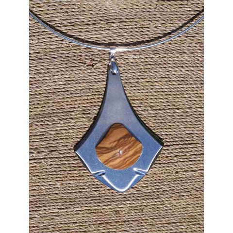 Olive Wood Choker Necklace - Zouf.biz