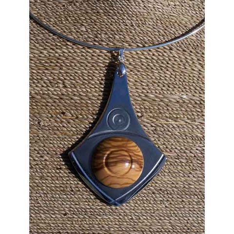 Olive Wood Choker Necklace (Round) - Zouf.biz