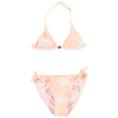 French Orange Star Print Bikini Holly