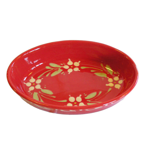 Flower Oval Dish - Red - Zouf.biz