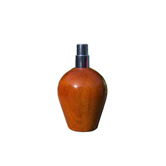 Pernambuco Wood Round Travel Spray Refillable Holder - Zouf.biz