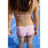 French Pink and Golden Polka Dots Bikini Back