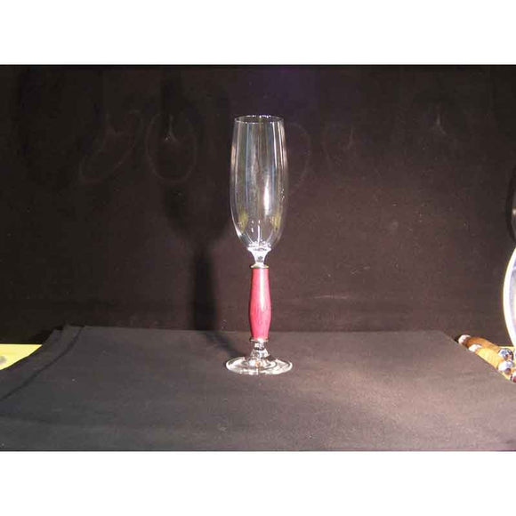 Crystal Champagne Flute on Purpleheart Wood Base - Zouf.biz