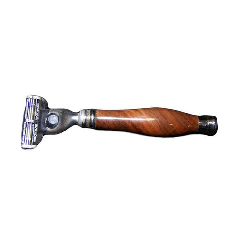 Walnut Wood Razor, Gillette Blade Options - Zouf.biz