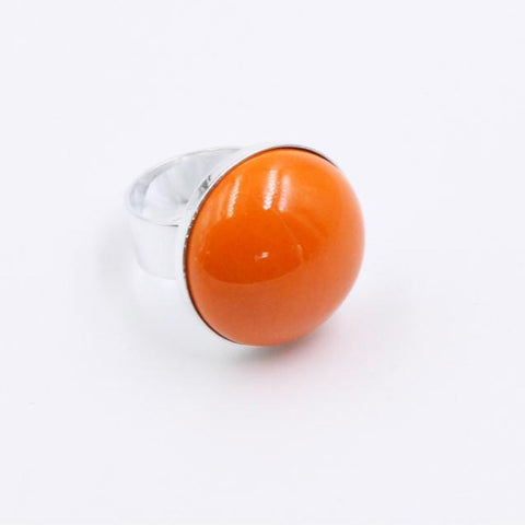Orange Bulle Cabochon Ring - Zouf.biz
