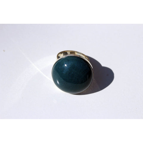 Duck Egg Blue Bulle Urban Cabochon Ring