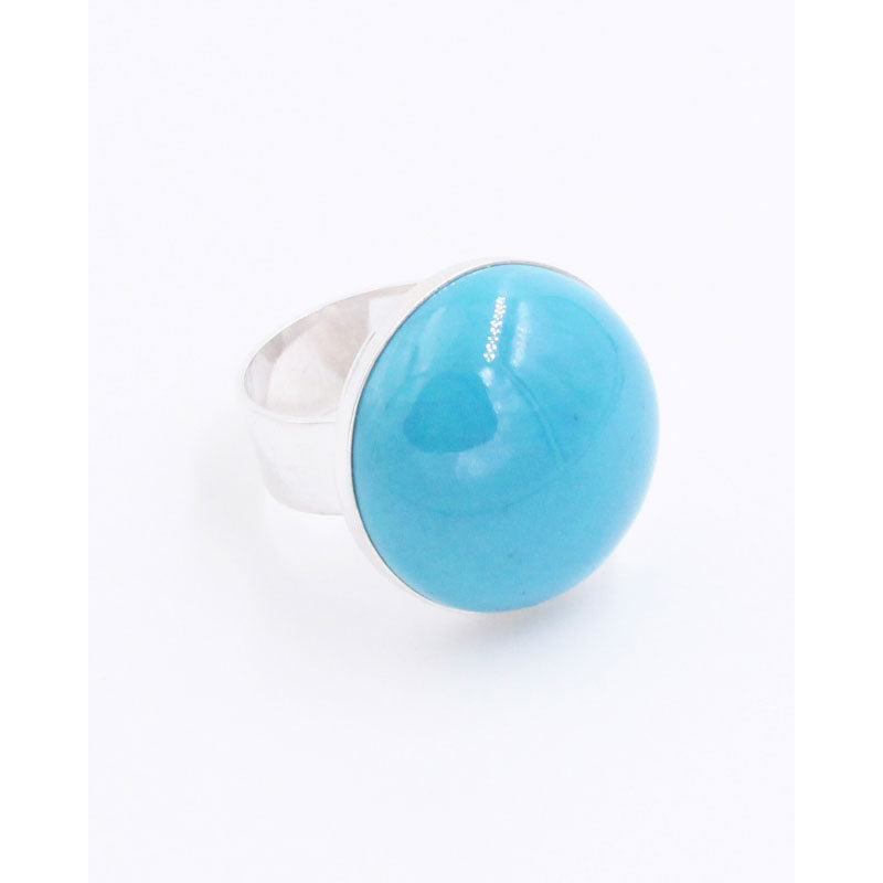 Turquoise Bulle Cabochon Ring - Zouf.biz
