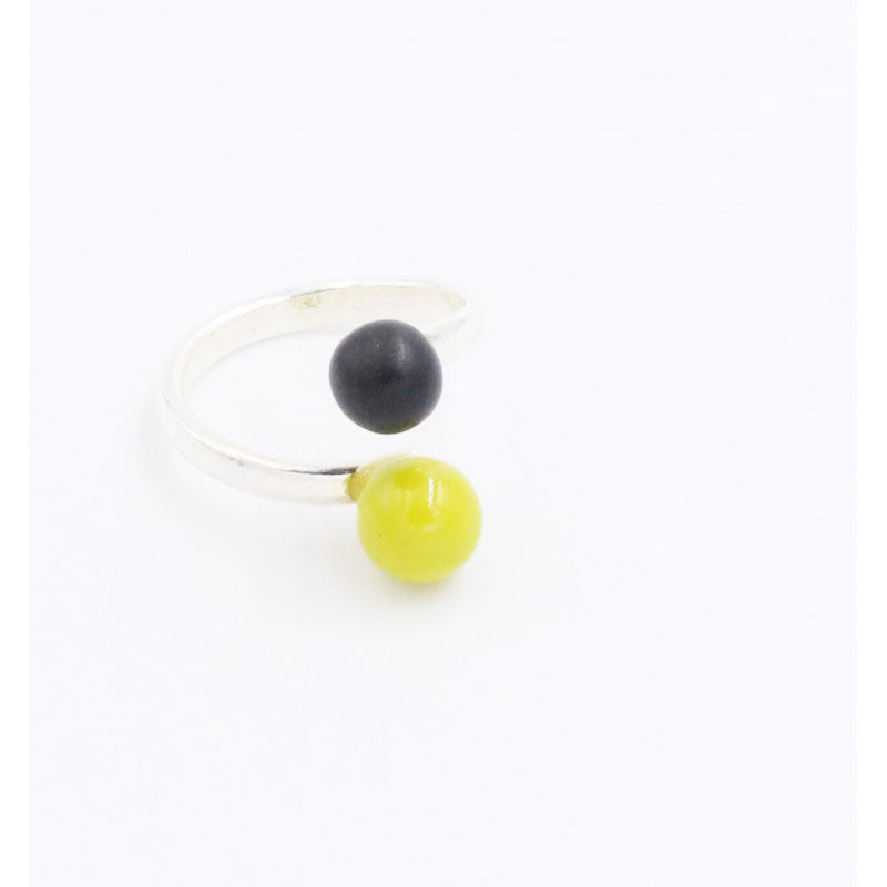 Anise & Black Duo Meteorite Ceramic Ring - Zouf.biz