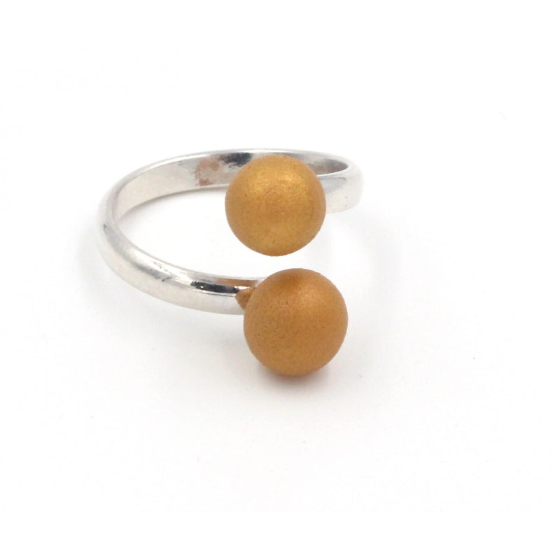 Gold Duo Meteorite Ceramic Ring - Zouf.biz