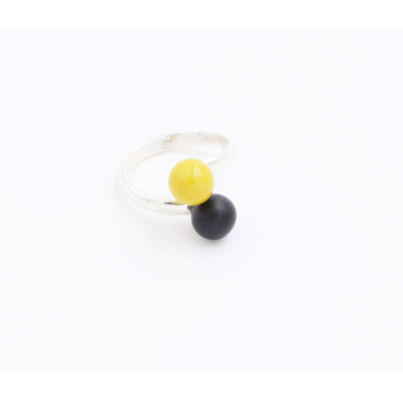 Sun & Black Duo Meteorite Ceramic Ring - Zouf.biz