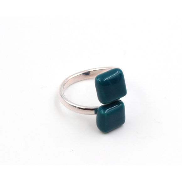 Duck Egg Blue Kub Ceramic Ring - Zouf.biz