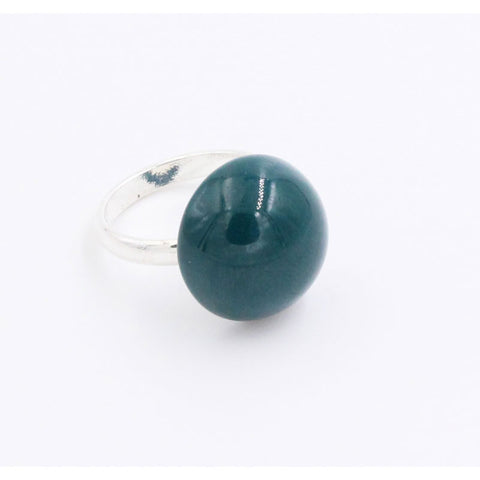 Duck Egg Blue Ludic Urban Ceramic Ring - Zouf.biz