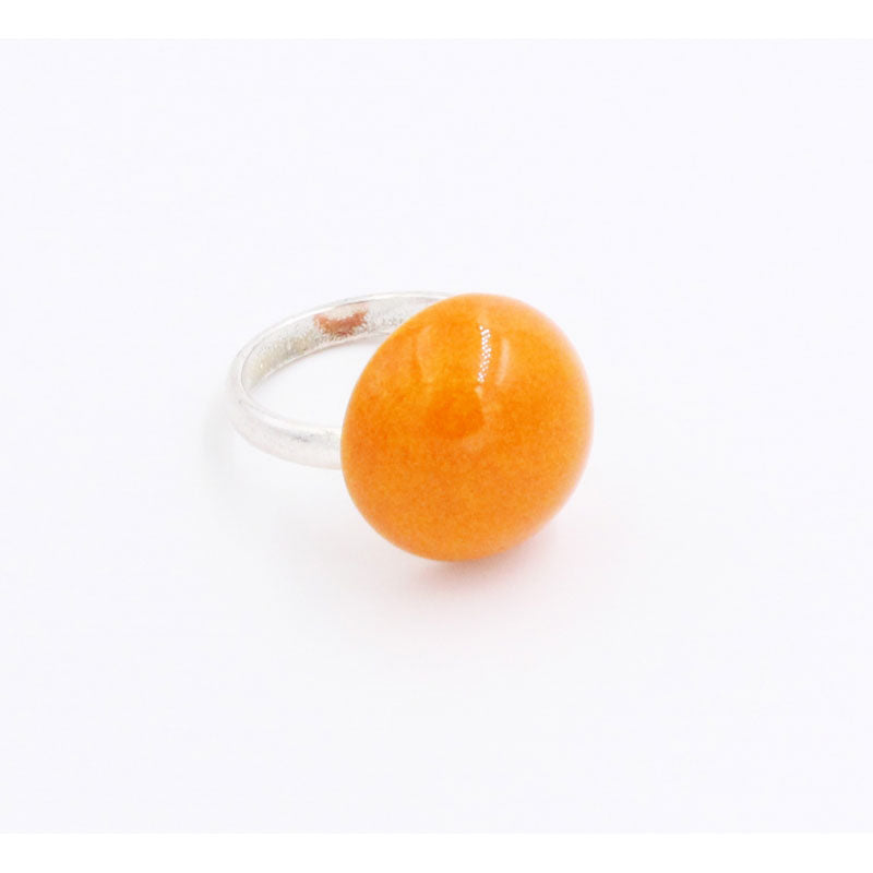 Orange Ludic Urban Ceramic Ring - Zouf.biz