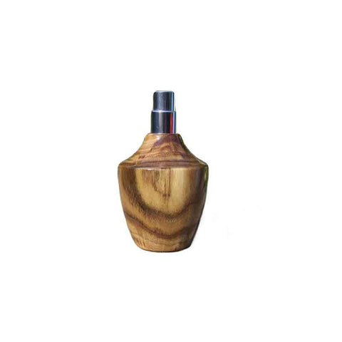 Robinia Wood Square Travel Spray Refillable Holder - Zouf.biz