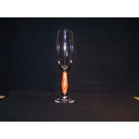 Crystal Champagne Flute on Rosewood Base - Zouf.biz
