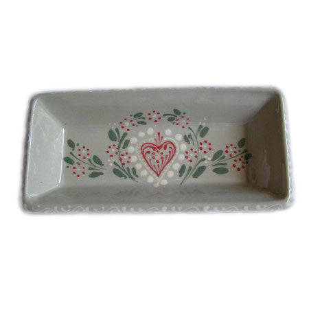 Alsatian Pattern Serving Dish 21cm - Grey - Zouf.biz