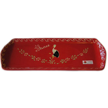 Bird Serving Plate 37cm - Red - Zouf.biz