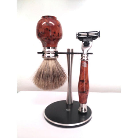 Burr Thuya Wood Shaving Set - Zouf.biz