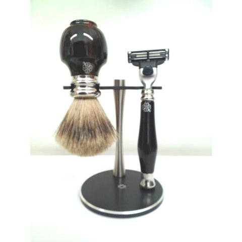 Ebony Wood Shaving Set