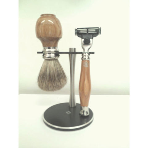 Olive Wood Shaving Set