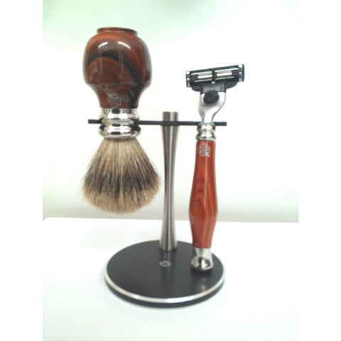 Santos Rosewood Shaving Set