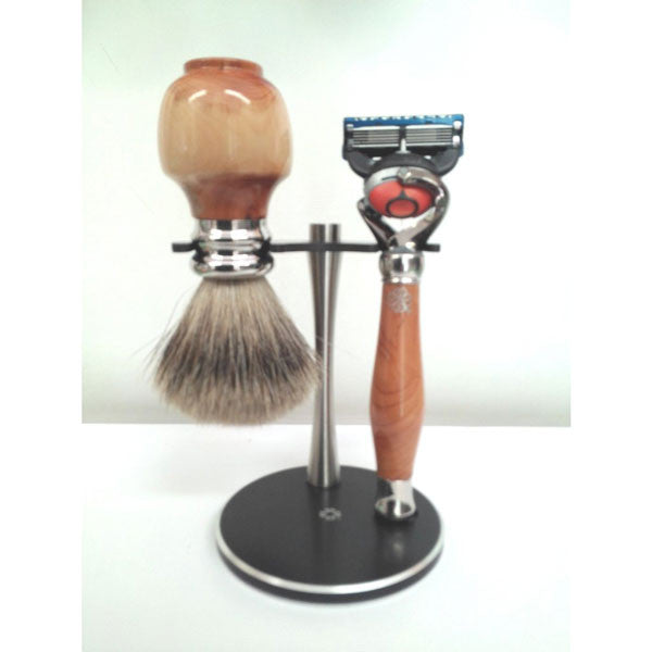 Yew Wood Shaving Set - Zouf.biz