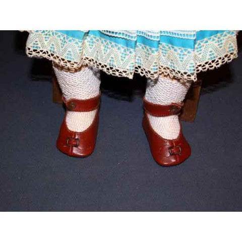 Brown Antique Doll Shoes - Zouf.biz