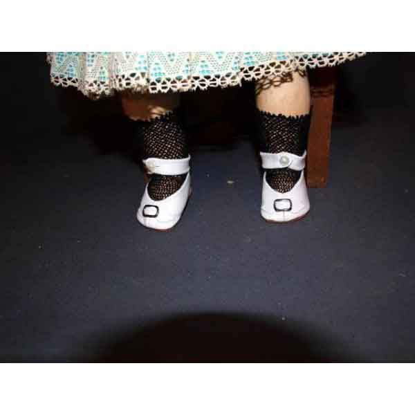 White Antique Doll Shoes - Zouf.biz