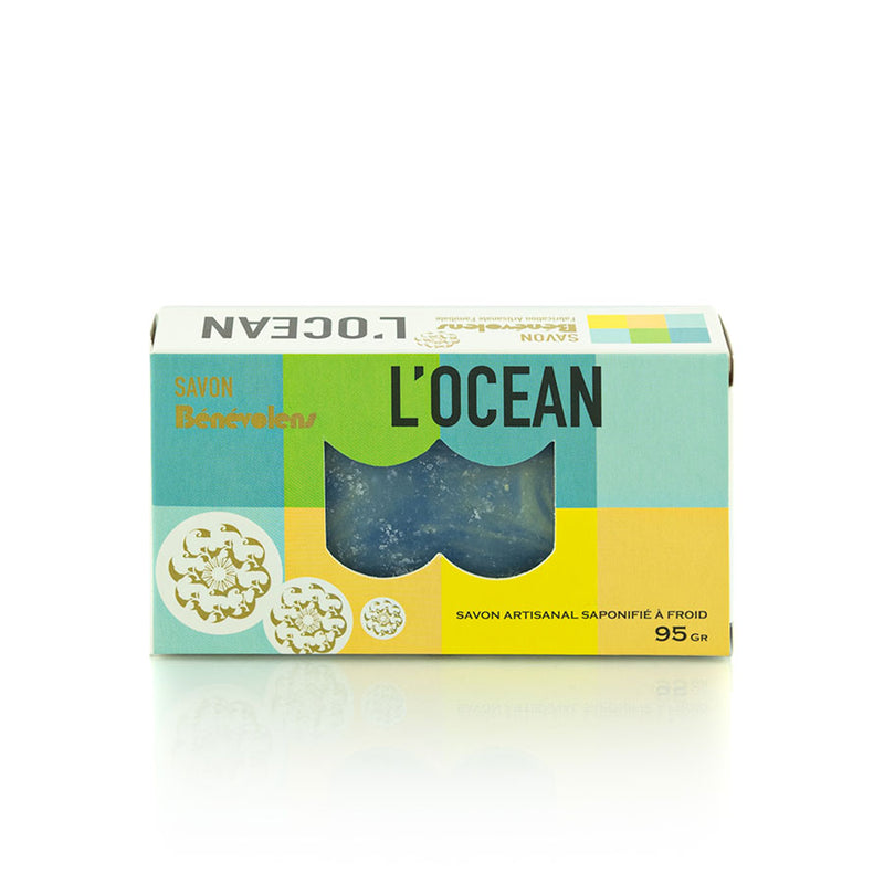 Natural Cold Process Soap, l'Ocean - 95g - Zouf.biz