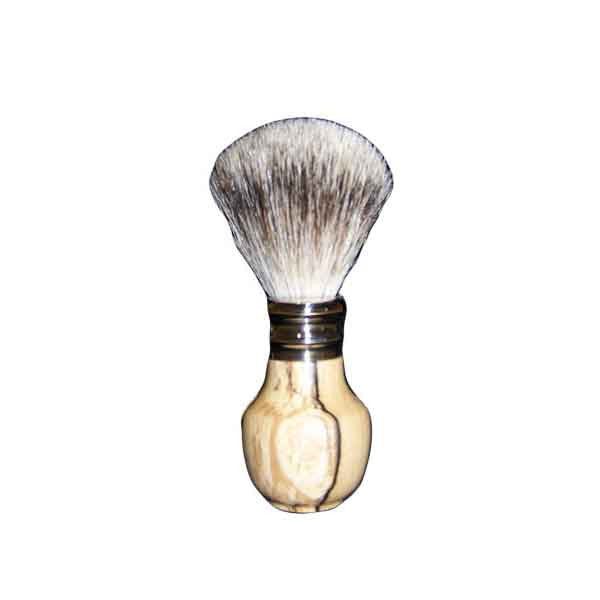 Pure Silver Tip Badger Shaving Brush Spalted Beech Wood - Zouf.biz