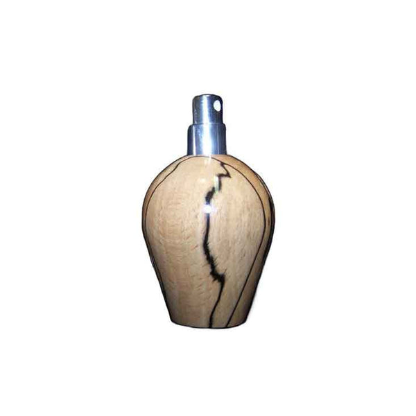 Spalted Beech Wood Round Travel Spray Refillable Holder - Zouf.biz