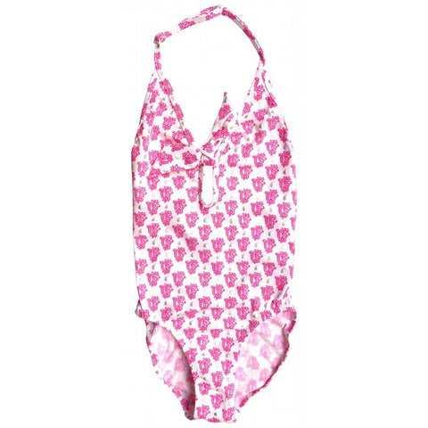 Bandana Pink Shiny Print One Piece Swimsuit - Zouf.biz