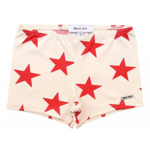 French Red Star Stretch Swim Shorts for Boys