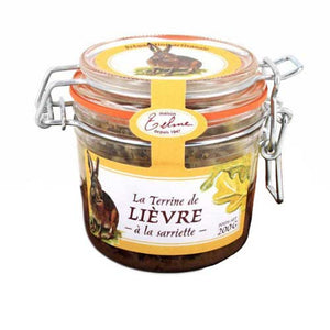 French Hare Terrine with Savory 200g Jar