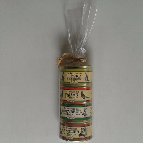 Gift Pack 4 Terrines made in France 130g