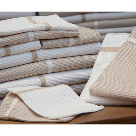 Finest Linen & White Honeycomb Hand Towel