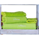 Cap-Ferret Pistachio 100% Cotton Bath Sheet - Zouf.biz