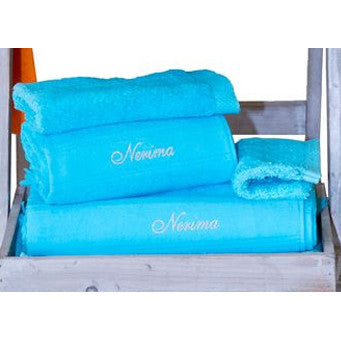 Cap-Ferret Turquoise 100% Cotton Bath Sheet - Zouf.biz