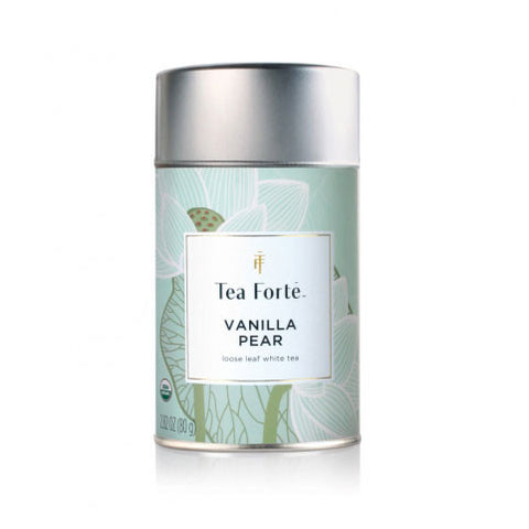 Vanilla Pear Lotus Loose Tea Canister - Zouf.biz