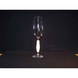 Crystal Champagne Flute on Wavy Maple Wood Base - Zouf.biz