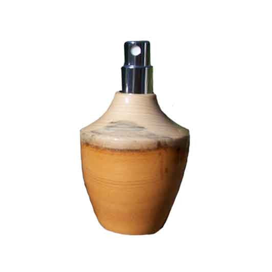 Yew Wood Square Travel Spray Refillable Holder - Zouf.biz