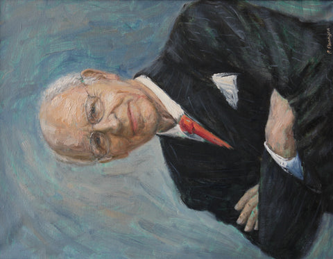 Oil painting portrait of Sir Peter Carr