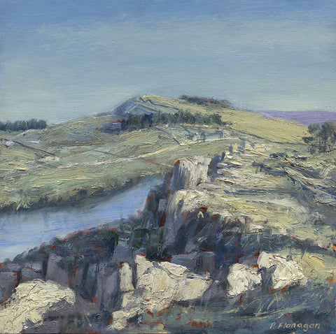 Hadrian's Wall at Highshield Crag. (Print)