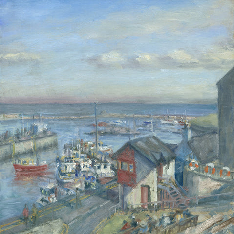 Seahouses Harbour. (Print)