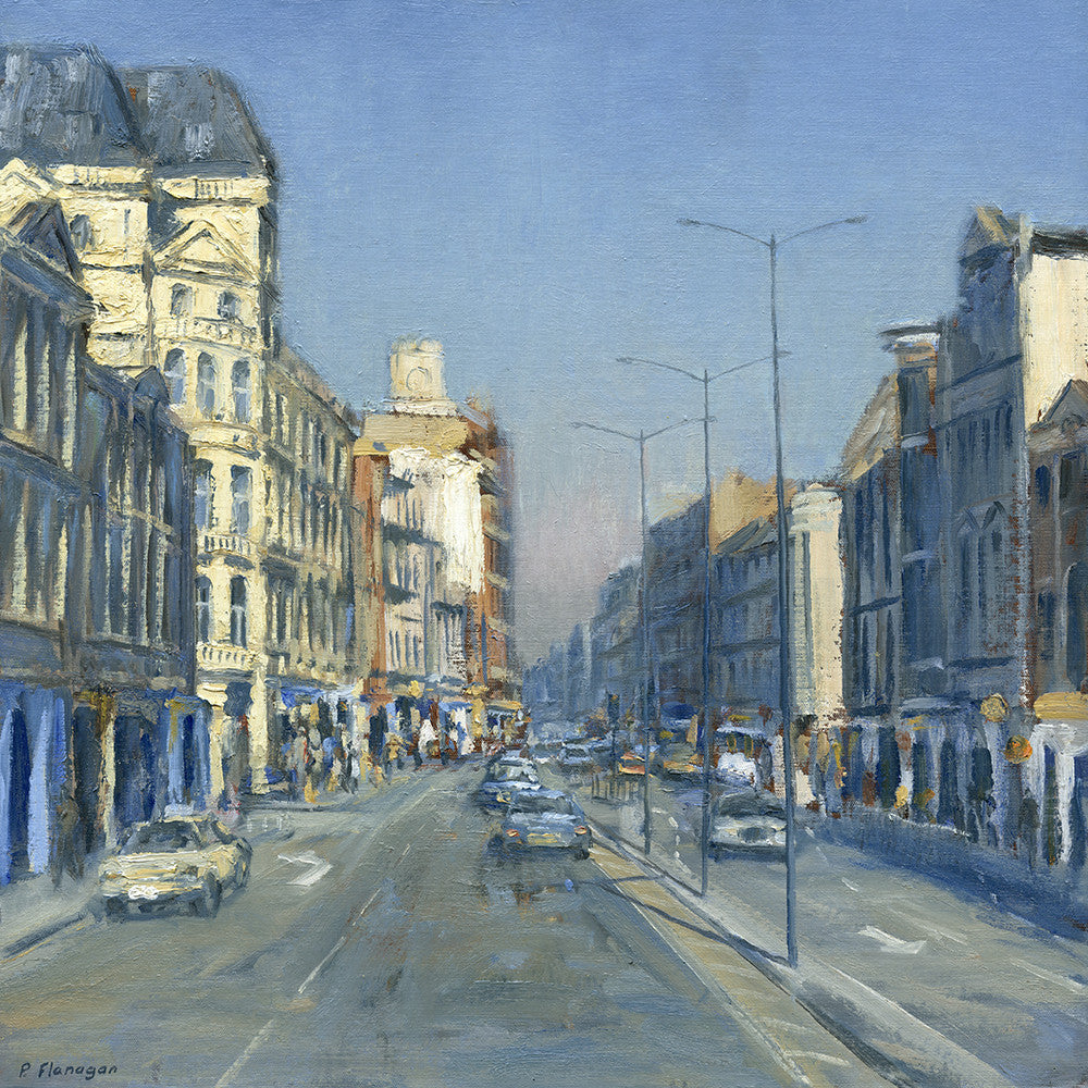 St. Marys Street, Late Morning, Cardiff. (Print)