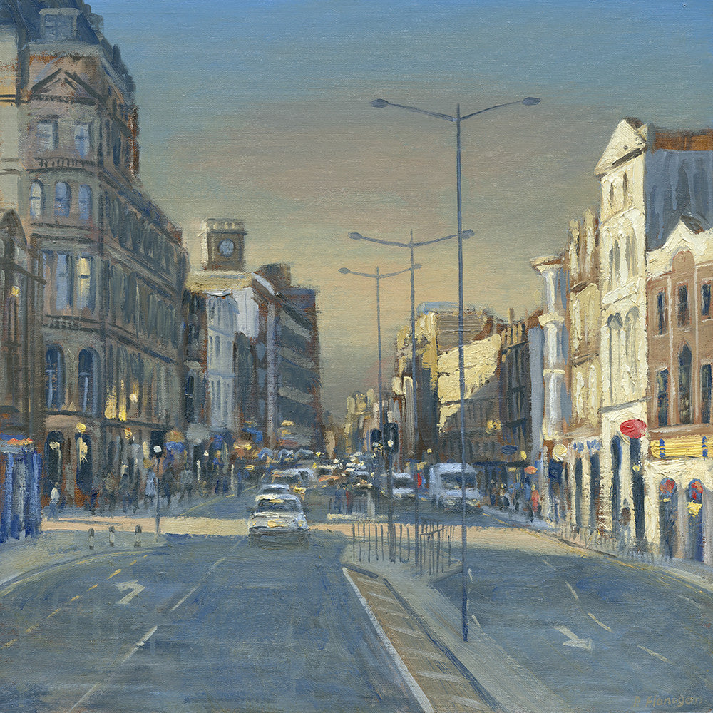 St. Marys Street, Late Afternoon, Cardiff. (Print)
