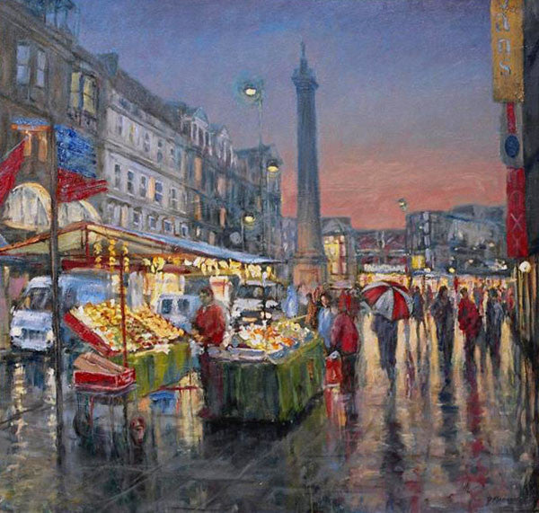 Fruit Stall, Winters Evening. (Print)