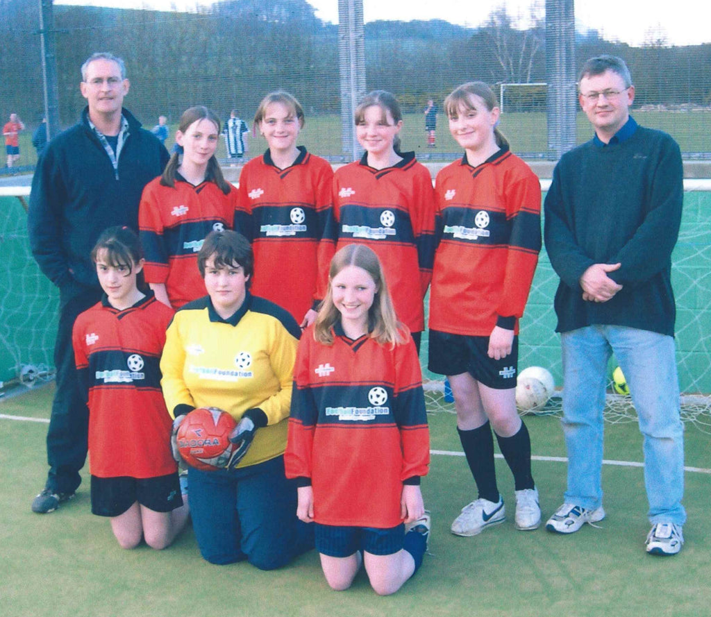 Girls football team at Haydon Bridge