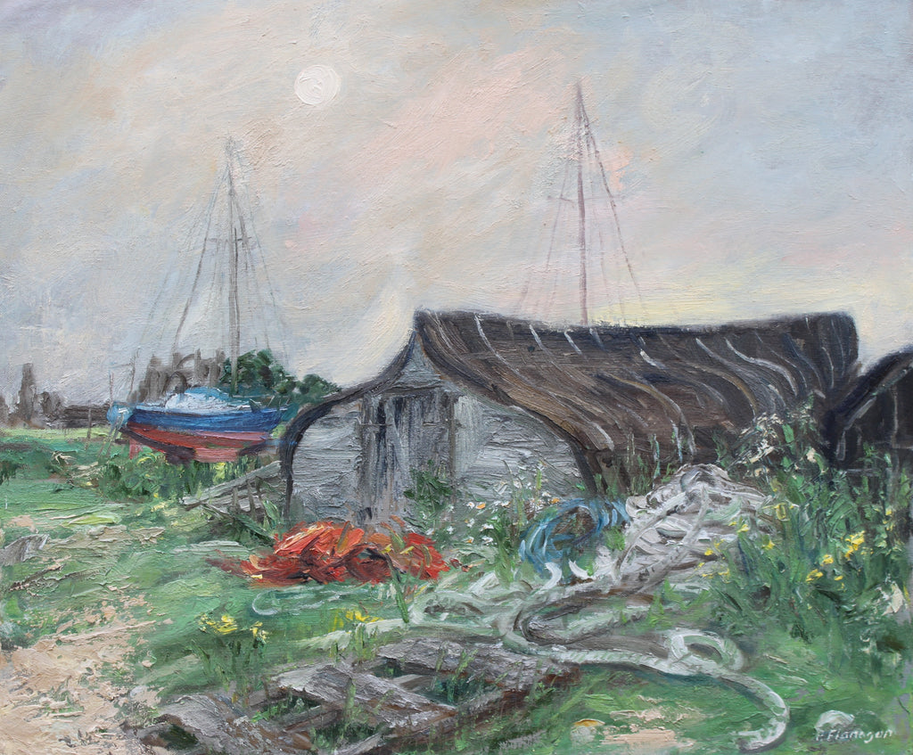 Holy Island Boat Shed. (exhibited at the Biscuit Factory)